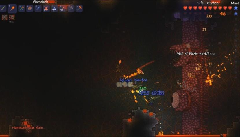 terraria how to kill wall of flesh