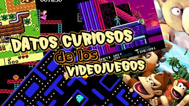 DATOS CURIOSOS DE LOS VIDEOJUEGOS: