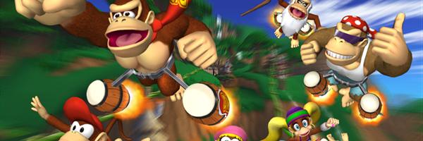 Wii - Donkey Kong Barrel Blast - Title Screen